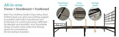 amazon com best price mattress model h easy set up steel platform