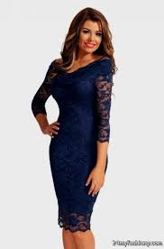 blue lace dress navy blue lace dress 3 4 sleeve 2016 2017 b2b fashion
