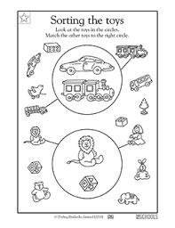 kindergarten preschool math worksheets sorting toys greatschools