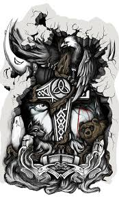 odin design hugin and munin by darksuntattoo on deviantart