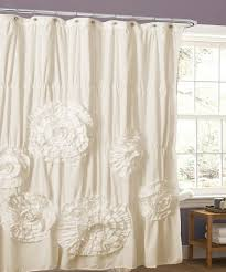Lush Decor Ruffle Shower Curtain by Take A Look At This Ivory Magnolia Shower Curtain Today My