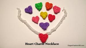 charm heart necklace images Rainbow loom heart charm necklace how to jpg