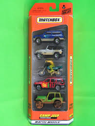 jeep matchbox 2000 matchbox 5 pack camp jeep grand cherokee u002798 wrangler dirt