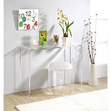 Acrylic Vanity Table Pure Decor Acrylic Console Table