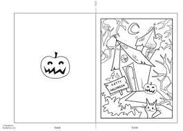imagenes de halloween para imprimir y colorear tarjeta de halloween para imprimir y colorear mas manualidades