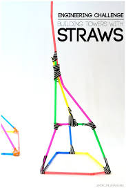 building with straws simple engineering challenge for kids