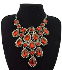 bib necklace rhinestone images Retro crystal water drop statement necklace luxury women bijoux jpg