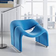 paulin style groovy armchair multiple colors designer
