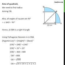 ex 12 3 13 a square oabc is inscribed in a quadrant opbq ex 12 3