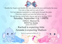 dual elephant baby shower invitation kustom kreations