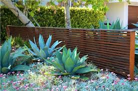Modern Backyard Fence by Modern Wood Fence Agave Gates And Fencing Landscaping Network