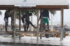 bureau de change guadeloupe ricans told to evacuate as hurricane hits daily mail