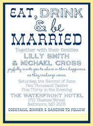 eat drink and be married invitations wedding invitations
