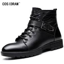 where can i buy motorcycle boots aliexpress com buy cosidram genuine leather warm winter shoes men