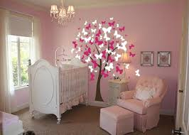 Butterfly Tree Nursery Wall Decal  InnovativeStencils - Butterfly kids room