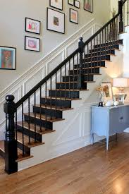 Stair Banister Height 23 Pretty Painted Stairs Ideas To Inspire Your Home Wainscoting