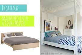 Ikea Malm Bed With Nightstands May 1 Ikea Hack Malm Bed Into A Four Poster Ikea Hack Malm And