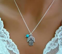 hamsa sterling silver necklace images Hamasa necklace sterling silver turquoise evil eye vivian feiler jpg
