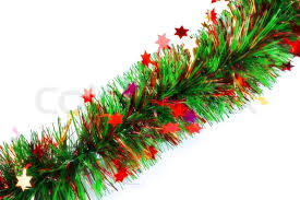tinsel garland with stock photo colourbox