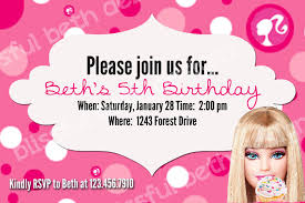 barbie invitations free printable invitation design