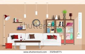 Sofa Chairs Designs Cool Graphic Living Room Interior Design Stock Vector 332948771