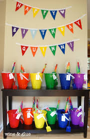 Rainbow Party Decorations Rainbow Party Extravaganza Wine U0026 Glue