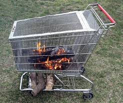 Home Rotisserie Design Ideas Portable Pit With Built In Log Storage Rack Pit