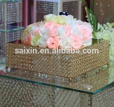 gold cake stands beautiful square gold cake stand for wedding table center buy
