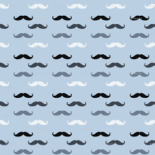 mustache wrapping paper blue mustaches giftwrap peacefuldreams spoonflower