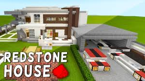 Mpce Maps Amazing Redstone Modern House In Mcpe Redstone Modern Mansion