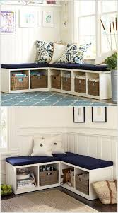 Corner Storage Bench Using The Awkward Walls And Corners To Spruce Up Your Home