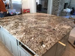 white tiger granite caps the oversized kitchen island emrichpro com