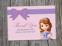 instant download kids birthday thank you card sofia the