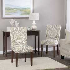 Parson Dining Chair Homepop Classic Parsons Dining Chair Suri Brown Set Of 2 Homepop