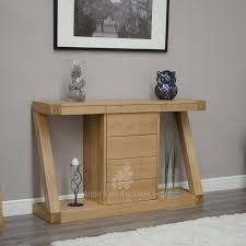 Oak Accent Table Furniture Luxury Wooden Hallway Storage Console Table Clean Modern