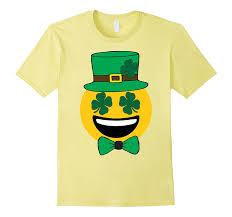 happy emoji st patricks day clover shamrock eyes bow tie goatstee