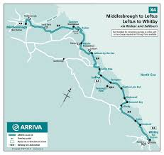 Bus Route Map Sapphire Middlesbrough To Loftus X4 Loftus To Whitby 4