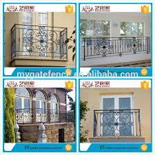 Decorative Iron Railing Panels Yishujia Factory Modern Balcony Railings Wrought Iron Balcony