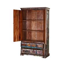Reclaimed Wood Storage Cabinet Color Patches Reclaimed Wood Armoire Storage Cabinet