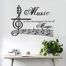 music note home decor music is the strongest form of magic wall sticker home decor
