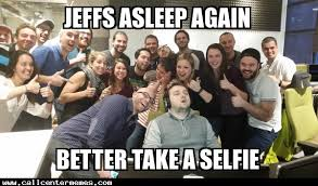 Office Work Memes - guy falls asleep at work office takes a selfie call center memes