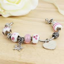 pandora style charm bracelet images Perfect gifts for the bridesmaid pink pandora style charm jpg