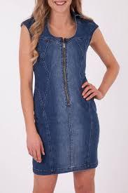 jag clothing denim zip dress womens knee length dresses