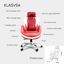 klasvsa electric heating vibration back massage chair neck
