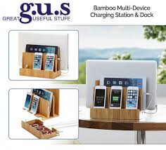 Charging Station For Phones Eco Friendly Bamboo Multi Device Charging Station And Dock Great
