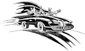 batman car drawing east coast comicon spotlight howard bender and the batmobile