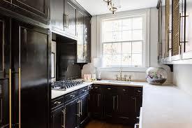 black kitchen cabinets in a small kitchen small contemporary black kitchen design ideas
