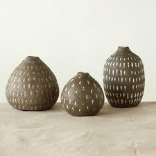 3 Vases Set Terracotta Hand Painted Centerpiece Vases Set Of 3 Antique