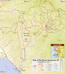 Fall Creek Falls Map Berry Creek Falls Route Ii