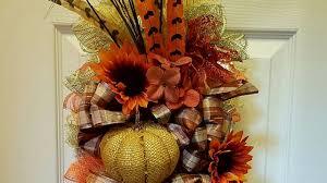 fall swag wreath using wire hanger diy dollar tree crafts